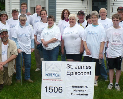 St. James Episcopal Farmington Volunteers  — Photo by Skip Mason