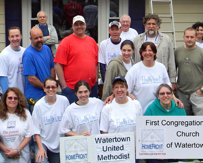 Watertown United Methodist and First Congregational Church Volunteers — Photo by Dan Zeno