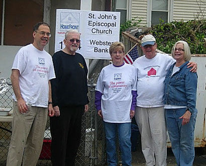 St John's Episcopal Waterbury Volunteers — Photo by Dan Zeno