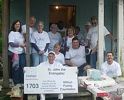 St John the Evangelist Watertown Volunteers — Photo by Dan Zeno